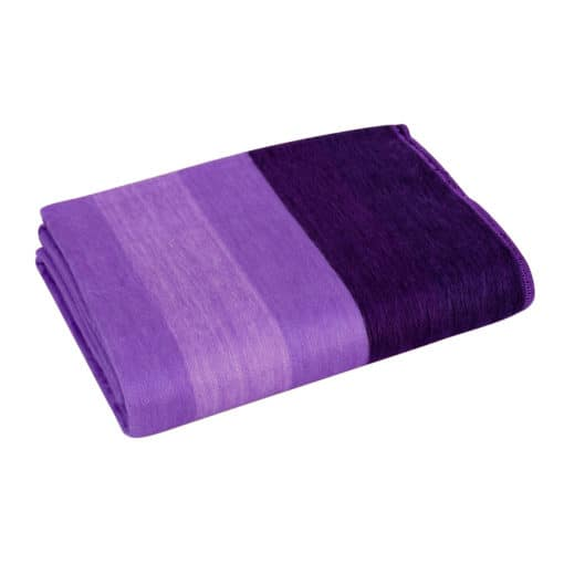 Fairtrade Alpacaplaid med Brede Striber Lavendel