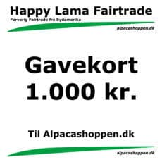 Gavekort til Happy Lama Fairtrade 1000