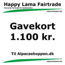 Gavekort til Happy Lama Fairtrade 1100