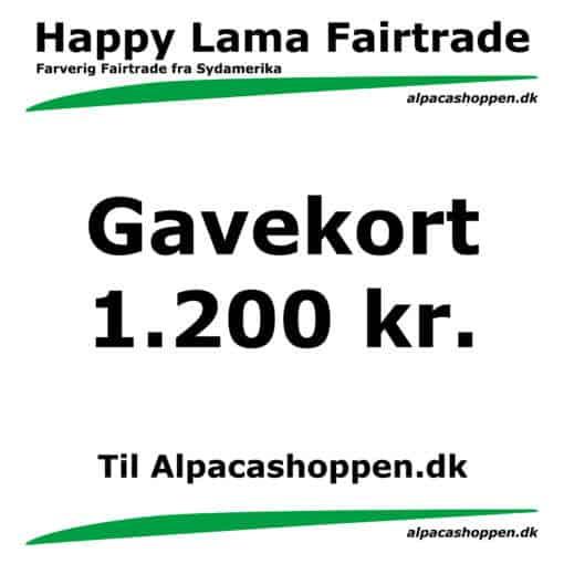 Gavekort til Happy Lama Fairtrade 1200