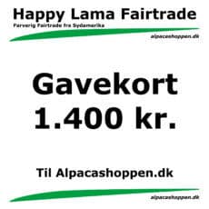 Gavekort til Happy Lama Fairtrade 1400