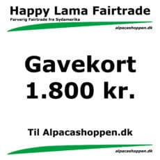 Gavekort til Happy Lama Fairtrade 1800