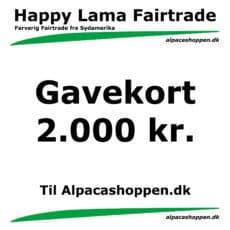 Gavekort til Happy Lama Fairtrade 2000