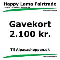 Gavekort til Happy Lama Fairtrade 2100