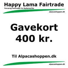 Gavekort til Happy Lama Fairtrade 400