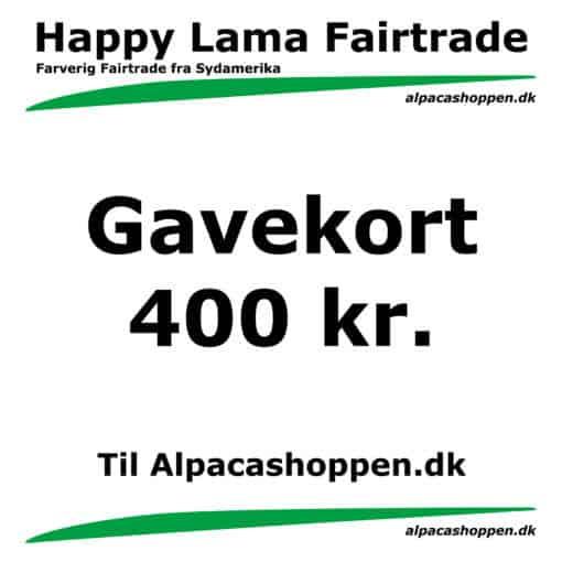 Gavekort til Happy Lama Fairtrade 400