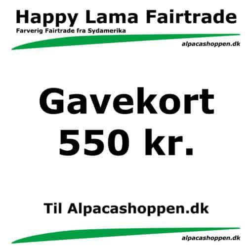 Gavekort til Happy Lama Fairtrade 550