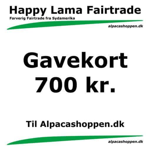 Gavekort til Happy Lama Fairtrade 700