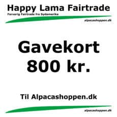 Gavekort til Happy Lama Fairtrade 800