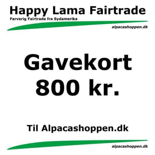 Gavekort til Happy Lama Fairtrade 800