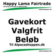 Gavekort til Happy Lama Fairtrade valgfrit beløb